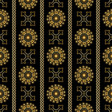 Vector seamless gold vintage ornamental pattern on black background Royalty Free Stock Photo