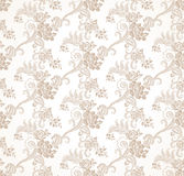 Vector seamless golden floral wallpaper Stock Photos