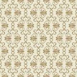 Vector seamless golden flourish pattern. Royalty Free Stock Photos