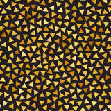 Vector Seamless Golden Gradient Triangle Shape Jumble Pattern. Abstract Geometric Background Design Stock Image