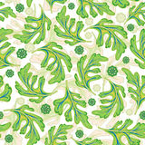 Vector seamless graphical artistic fantasy pattern. Stock Image