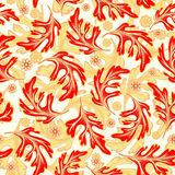 Vector seamless graphical artistic fantasy pattern. Royalty Free Stock Photos