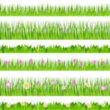 Vector Seamless Grass Stock Images