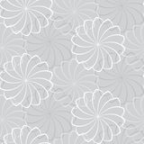 Vector seamless gray background with a flowers Stock Photos