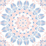 Vector seamless Greek floral ornament, Meander Stock Photography