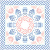 Vector seamless Greek floral ornament, Meander Royalty Free Stock Photography