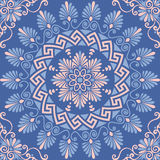 Vector seamless Greek floral ornament, Meander Royalty Free Stock Photo