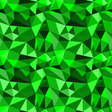 Vector seamless green abstract geometric rumpled triangular graphic background Royalty Free Stock Image