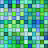 Vector Seamless Green Blue Color Gradient Square Grid  Geometric Tiling Pattern Royalty Free Stock Images