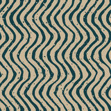 Vector Seamless Green Grey Color Hand Drawn Wavy Distorted Lines Retro Pattern Royalty Free Stock Images