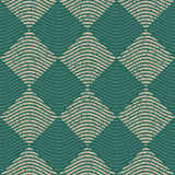 Vector Seamless Green Grey Color Hand Drawn Wavy Lines Rhombus Checker Retro Pattern Stock Images