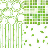 vector seamless green pattern Royalty Free Stock Images
