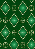 Vector seamless green texture with rhombuses Royalty Free Stock Image