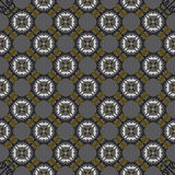 Vector seamless grey ornament background. And geometric pattern Stock Photos