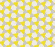 Vector Seamless Grey Yellow Geometric Triangle Shape Tessellation Pattern Royalty Free Stock Photos
