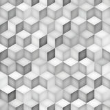 Vector Seamless Greyscale Shades Gradient Rhombus Grid Geometric Pattern Stock Photos