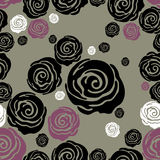 Vector Seamless grunge rose pattern Royalty Free Stock Image