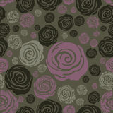 Vector Seamless grunge rose pattern Stock Photo