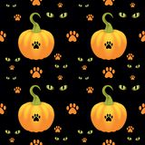 Vector seamless Halloween background. Stock Photos