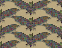 Vector seamless halloween pattern with bat Royalty Free Stock Images