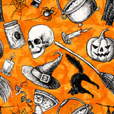 Vector seamless Halloween pattern. Royalty Free Stock Image