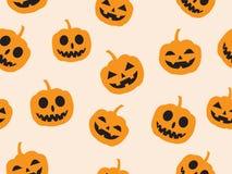 Vector seamless Halloween pattern with pumpkin devil royalty free stock photos