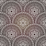 Vector Seamless Hand Drawn Doodle Pattern Stock Image