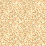 Vector seamless hand drawn fall background Stock Photography