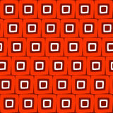Vector Seamless Hand Drawn Geometric Square Tiles Retro Orange Pattern Abstract Background. Stock Photos