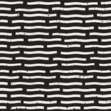 Vector Seamless Hand Drawn Horizontal Lines Grungy Pattern. Vector Seamless Black And White Hand Drawn Horizontal Lines Grungy Pattern. Abstract Freehand Stock Photo