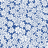 Vector seamless hand drawn natural decorative floral pattern.  Royalty Free Stock Images