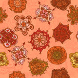 Vector seamless hand-drawn pattern Royalty Free Stock Photos
