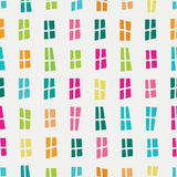Vector seamless hand-drawn pattern with cartoon colorful window Stock Photos