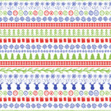 Vector seamless hand drawn pattern. Christmas or New Year doodle Stock Image