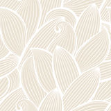 Vector seamless hand-drawn pattern with leaf.  Stock Images