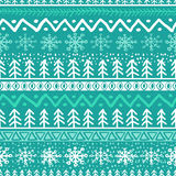 Vector seamless hand drawn pattern in turquoise blue  Stock Photos