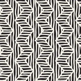 Vector seamless hand drawn pattern. Zigzag and stripe rough lines. Tribal design background. Ethnic doodle texture. Royalty Free Stock Photos