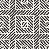 Vector seamless hand drawn pattern. Zigzag and stripe rough lines. Tribal design background. Ethnic doodle texture. Stock Image