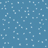 Vector seamless hand drawn simple snow pattern. Winter background with snowfall Royalty Free Stock Photography