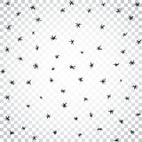 Vector seamless hand drawn stars and snow pattern. Snowfall vect. Or illustration. Simple business concept pictogram Stock Photography