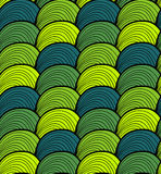 Vector seamless hand drawn wave pattern. Colorful endless thread background. Royalty Free Stock Photography