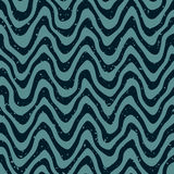 Vector Seamless Hand Drawn Wavy Distorted Lines Retro Pattern Royalty Free Stock Photography