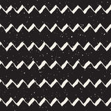 Vector Seamless Hand Drawn ZigZag Lines Grungy Pattern. Vector Seamless Black And White Hand Drawn ZigZag Lines Grungy Pattern. Abstract Freehand Background Royalty Free Stock Photography