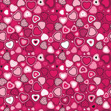 Vector seamless, heart pattern for your design Stock Images