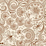 Vector seamless Henna mehndi doodle pattern Royalty Free Stock Photography