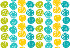 Vector  seamless hipster backgrounds in blues and greens. Hand drawn style Royalty Free Stock Images