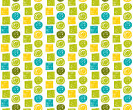 Vector  seamless hipster backgrounds in blues and greens. Hand drawn style Stock Photography