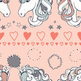 Vector seamless horse print background. Wrapping paper print design and background wall print paper Royalty Free Stock Photo