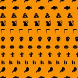 Vector illustration background of Halloween icons royalty free illustration
