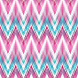 Vector seamless ikat ethnic pattern Stock Images